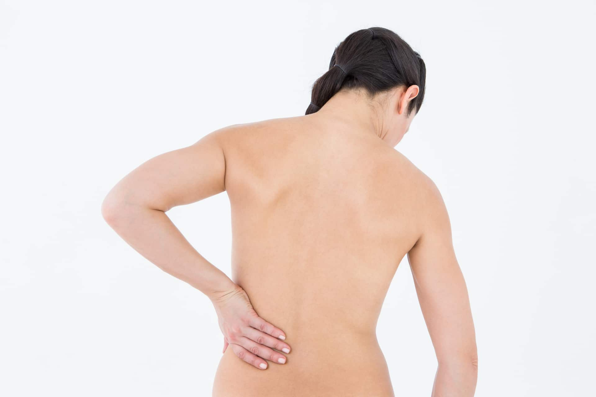 back pain left hand on hip