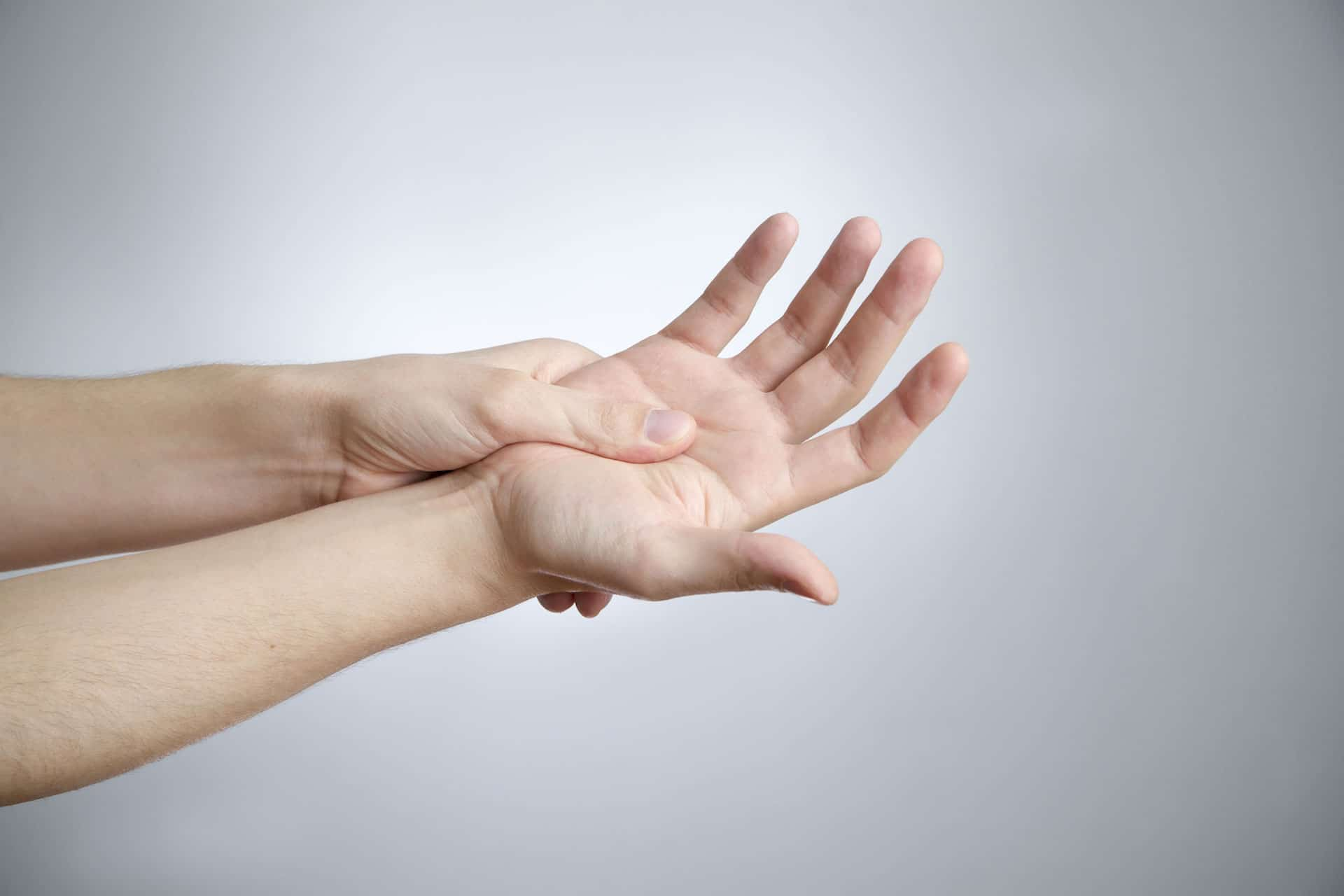 self massage hand palm
